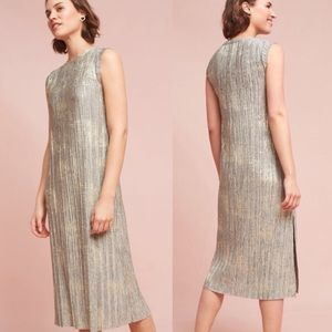 Anthropologie Akemi + Kin Corrina Metallic Dress
